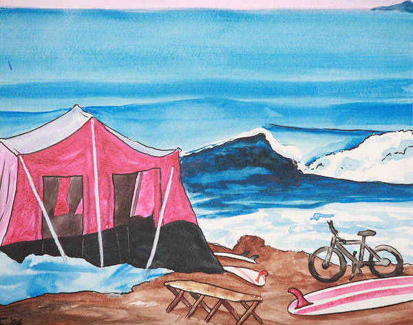 Surf Art Print featuring the painting Baja Boogie by Ronnie Jackson