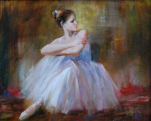Figuratives Art Print featuring the painting Ballerina E by Kelvin Lei