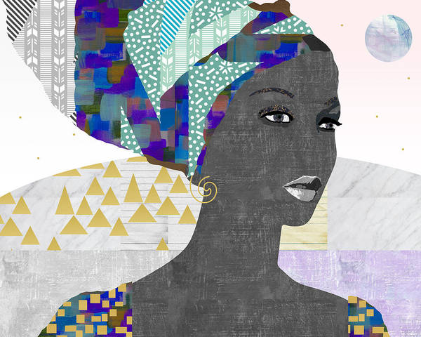 Collage Art Print featuring the mixed media Hope by Claudia Schoen