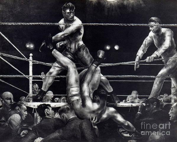 1923 Art Print featuring the photograph Bellows: Dempsey, 1924 by Granger