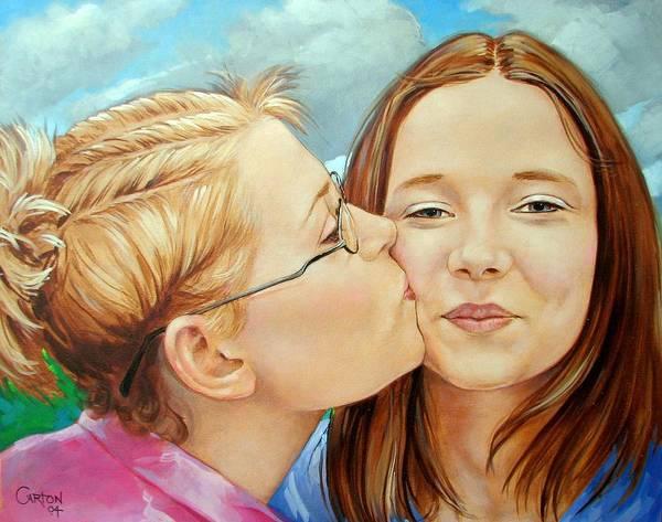 Best Friends Art Print featuring the painting Best Buds by Jerrold Carton