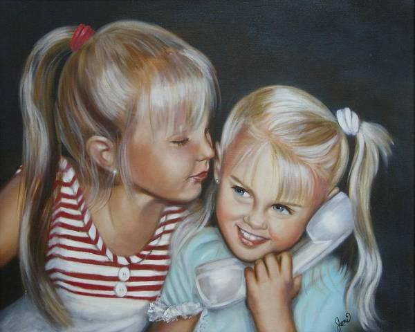 Portrait Art Print featuring the painting Best Friends by Joni McPherson