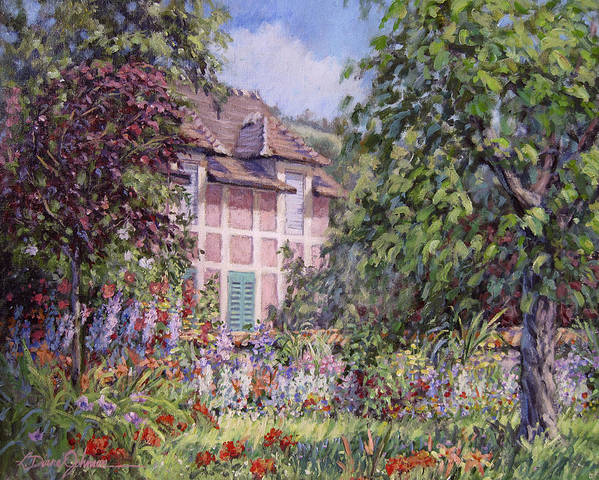 Monets Garden Art Print featuring the painting Beyond The Garden by L Diane Johnson