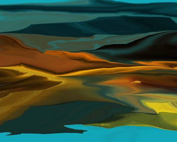 Fine Art Art Print featuring the digital art Black Hills Abstract by David Lane