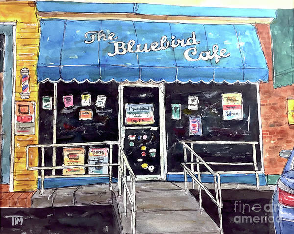 Bluebird Art Print featuring the painting Blue Plate Special by Tim Ross
