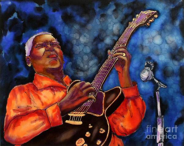 Jazz Art Print featuring the painting Blues Vibe by Linda Marcille