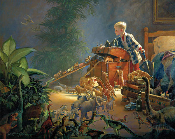 Noah's Ark Print featuring the painting Bon Voyage by Greg Olsen