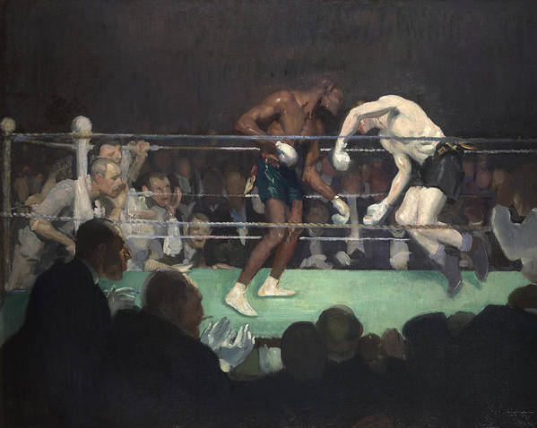Boxing Print featuring the painting Boxing Match by George Luks