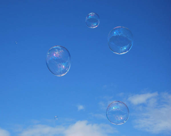 Bubbles Art Print featuring the photograph Bubble Play by Marilynne Bull