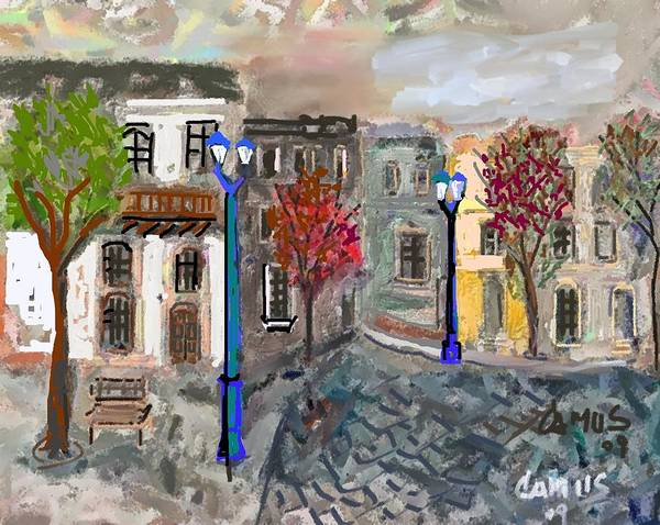 Art Art Print featuring the painting Calle Chile by Carlos Camus