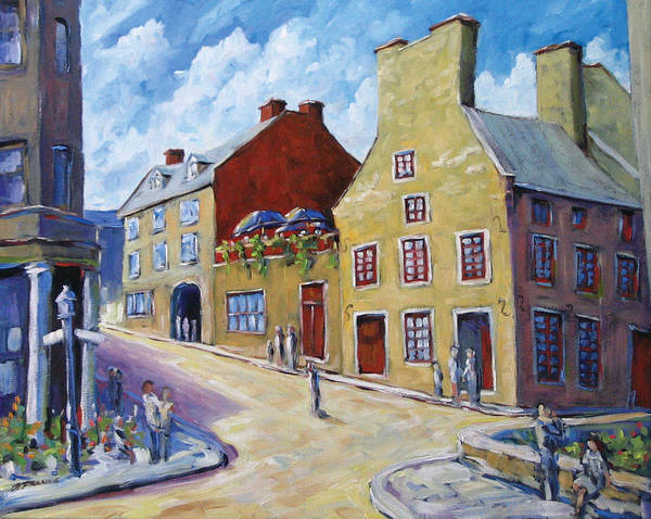 Rural Art Print featuring the painting Calvet House Old Montreal by Richard T Pranke