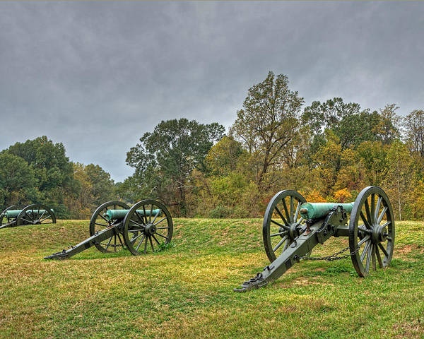 Civil War Art Print featuring the photograph Cannons I by Michael Taylor