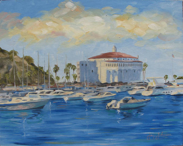 California Art Print featuring the painting Catallina Casino by Jay Johnson
