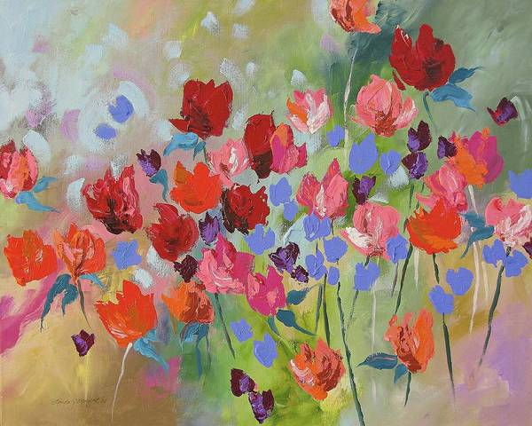 Original Art Print featuring the painting Celebrate by Linda Monfort