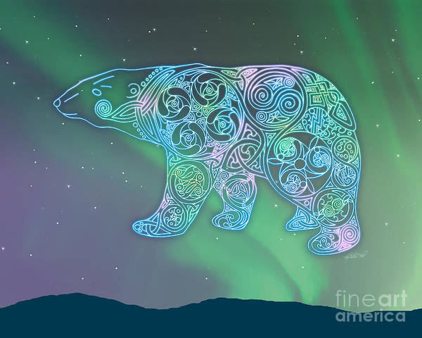 Artoffoxvox Art Print featuring the photograph Celtic Polar Bear by Kristen Fox