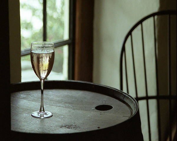 Still Life Art Print featuring the photograph Champagne Glass by Barry Shaffer