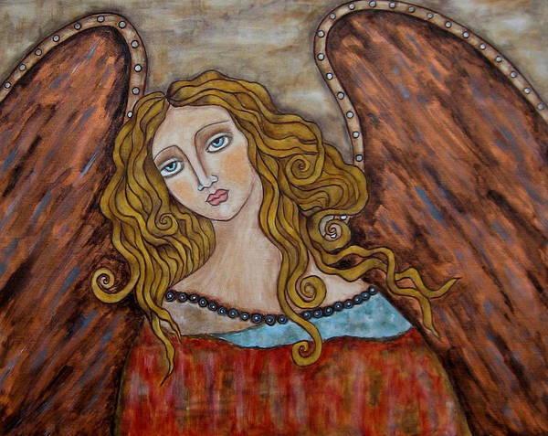 Folk Art Paintings Paintings Art Print featuring the painting Chaourum by Rain Ririn