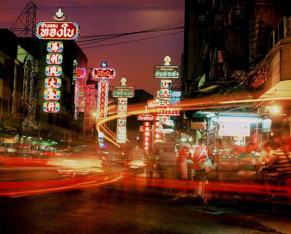 Bangkok Art Print featuring the photograph Chinatown In Bangkok by Brad Rickerby