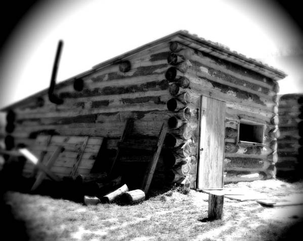 Army Art Print featuring the photograph Civil War Cabin 1 Army Heritage Education Center by Jean Macaluso