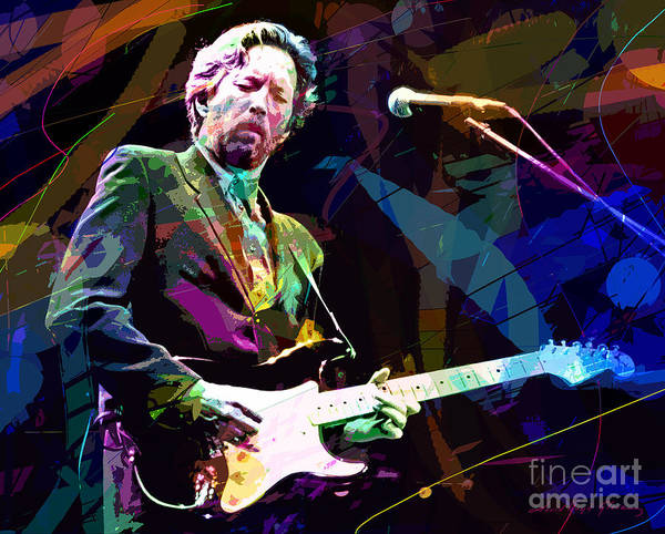 Eric Clapton Art Print featuring the painting Clapton Live by David Lloyd Glover