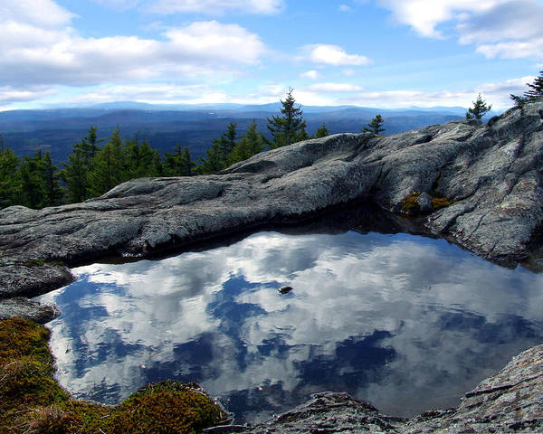 Cloud Art Print featuring the photograph Cloud Pool On Borestone Mountain by Diana Ludwig