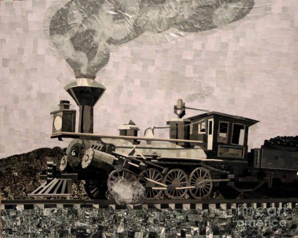 Collage Art Print featuring the mixed media Coal Train To Kalamazoo by Kerri Ertman