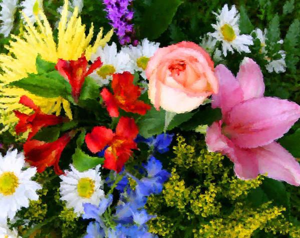 Flowers Art Print featuring the digital art Color Explosion by Kristin Elmquist