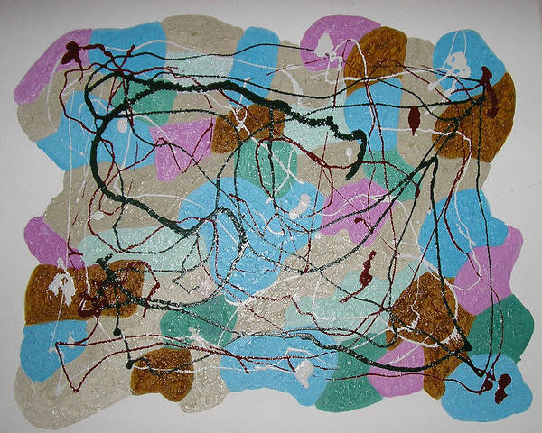 Shapes Art Print featuring the mixed media Colour And Shapes No 3 by Harris Gulko