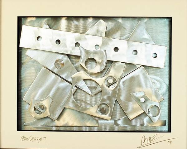 Aluminum Art Print featuring the sculpture Comic Stip 7 by Mac Worthington