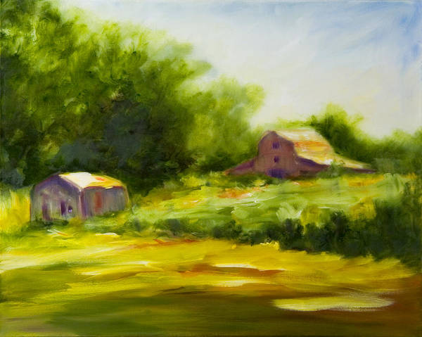Landscape In Green Art Print featuring the painting Courage by Shannon Grissom