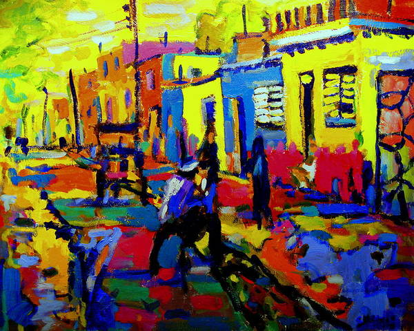 Fauve Art Print featuring the painting Cuban Village by Brian Simons