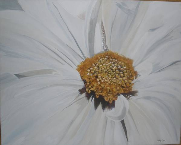 Flower Art Print featuring the painting Daisy by Betty-Anne McDonald