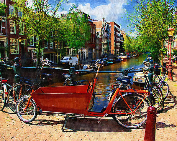 Bike Art Print featuring the photograph Delivery Bike by Tom Reynen