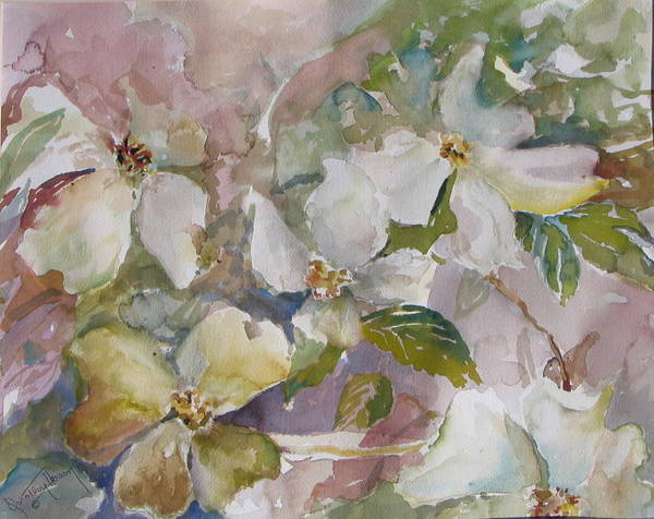 Art Print featuring the painting Dogwood by Dorothy Herron