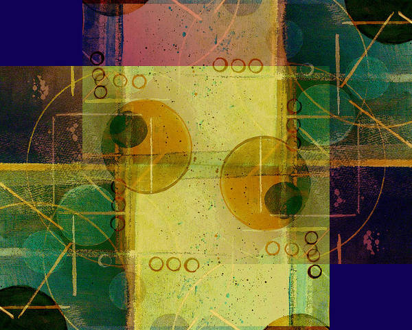 Abstract Art Print featuring the digital art Double Vision by Ruth Palmer