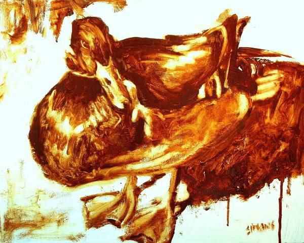 Duck Paintings Art Print featuring the painting Duck Study by Brian Simons