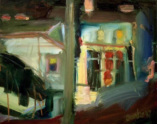 Dornberg Art Print featuring the painting Dusk Light by Bob Dornberg
