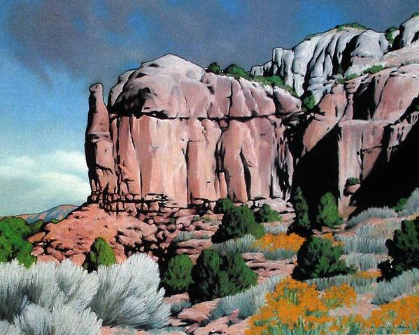 New Mexico Art Print featuring the painting Echoes by Kevin Lawrence Leveque