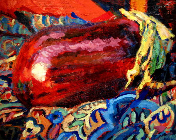 Still Life Paintings Art Print featuring the painting Eggplant by Brian Simons