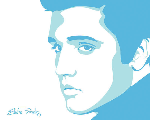 Rock And Roll Art Print featuring the digital art Elvis by Mike Maher