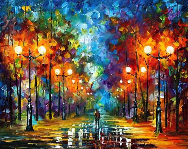 Afremov Art Print featuring the painting End Of Winter by Leonid Afremov