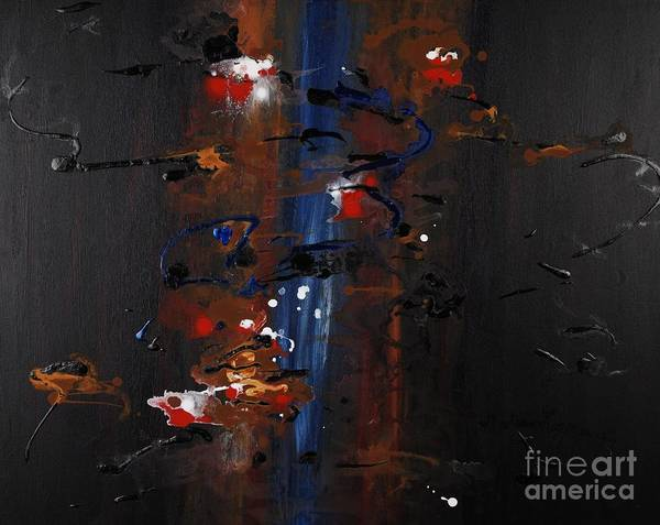 Black Art Print featuring the painting Energy by Nadine Rippelmeyer