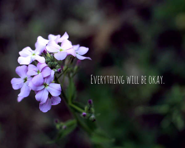 Flowers Art Print featuring the photograph Everything Will Be Okay by Cody Hoffman