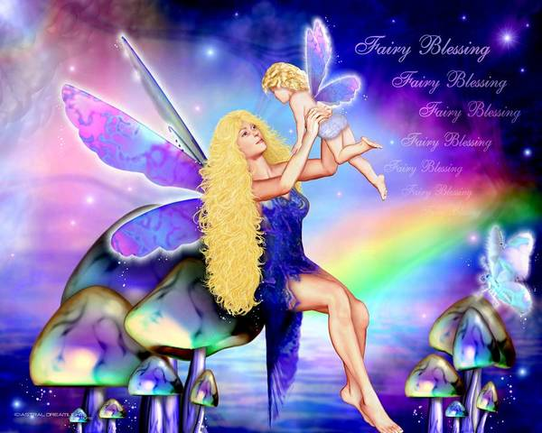 Fairy Art Print featuring the painting Fairy Blessing by Dreamlight Creations