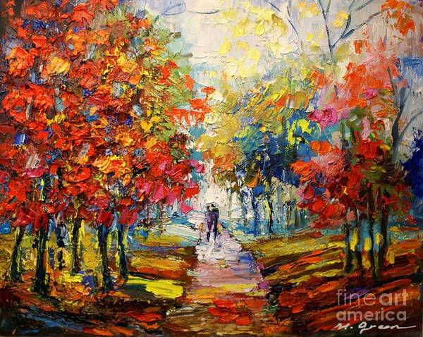 Artwork Art Print featuring the painting Fall by Maya Green