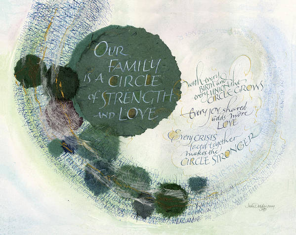 Adoption Print featuring the painting Family Circle by Judy Dodds