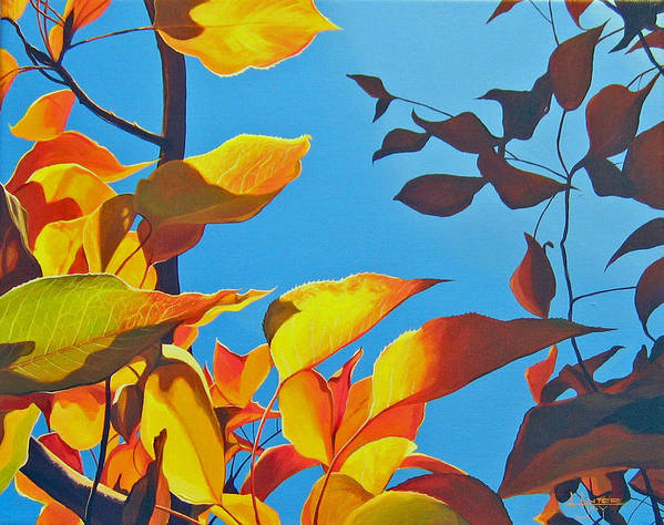 Fall Art Print featuring the painting Farewell To Summer by Hunter Jay