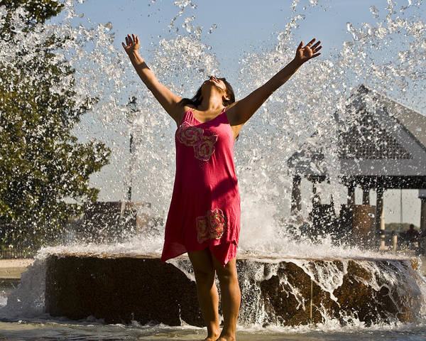 Femme Art Print featuring the photograph Femme Fountain by Al Powell Photography USA