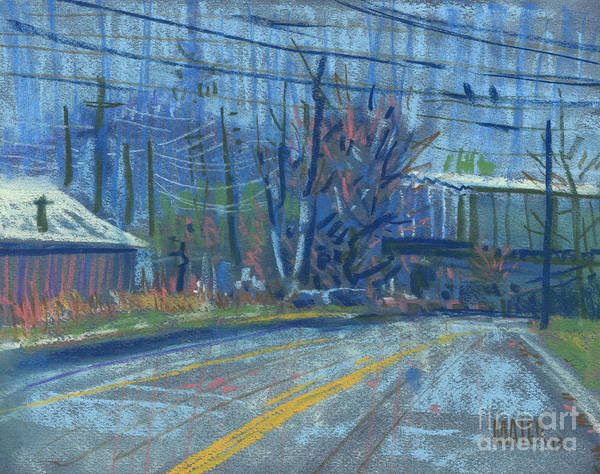 Kennesaw Mt. Pastel Art Print featuring the painting Field's Drive by Donald Maier