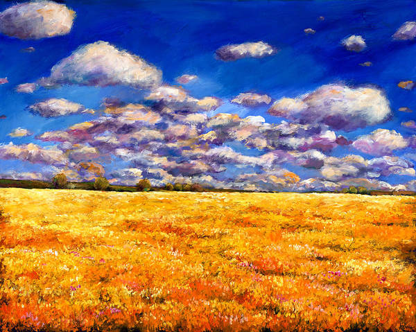 Landscape Art Print featuring the painting Fields Of Gold by Johnathan Harris